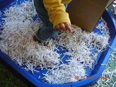 Shredded paper/ tuff spot
