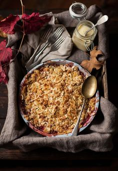 "autumn-mabon:  "" Apple and Strawberry Crumble  """