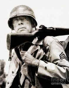 Lee Marvin Wall Art - Painting - Lee Marvin, Vintage Actor by Esoterica Art Agency Lee Marvin, Actor John, Hollywood Actor, Vintage Hollywood, Art Sketches, V Neck T Shirt, Instagram Images, Handsome, Actors