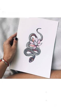 For my little snake girl Dream Tattoos, Future Tattoos, Love Tattoos, Unique Tattoos, Beautiful Tattoos, Body Art Tattoos, Small Tattoos, Tattoos For Women, Henne Tattoo