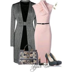 Women's Work Fashion Classy Outfits, Chic Outfits, Beautiful Outfits, Fashion Outfits, Womens Fashion, Fashion Trends, Fall Outfits, Fashion Design, Business Outfit