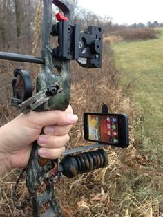 Smartphone Bow Mount - Okay, that's kind of cool I'll have to say. For those that want to record the shot on your phone.