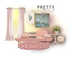 """""""pastel decor"""" by rvazquez ❤ liked on Polyvore featuring interior, interiors, interior design, home, home decor, interior decorating, Aidan Gray, Uttermost, Urban Outfitters and Pomax"""