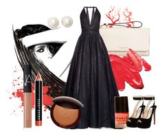 """""""Black&Coral"""" by tizocaspp ❤ liked on Polyvore featuring Chanel, Henri Bendel, Sophie Theallet, Bobbi Brown Cosmetics, Prada, Guerlain, NARS Cosmetics, Kate Spade and vintage"""