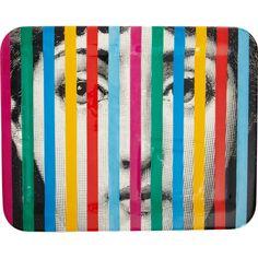 Fornasetti's Face & Stripe tray.