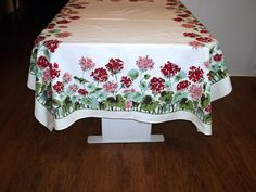 Lovely Vintage Cotton  Tablecloth by BridenetVintageLinen on Etsy, $18.00