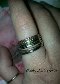 Handmade rings. Anelli realizzati a mano. https://m.facebook.com/profile.php?id=675772772446917