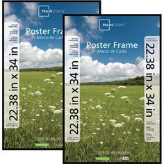 Mainstays 22 x 34 Black Poster Frame, 2pc Set-$16.47