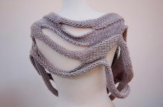 pearl gray loop scarf by Ruby Submarine | Knitting Ideas