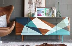 Dress up your dresser with a geo design like this.
