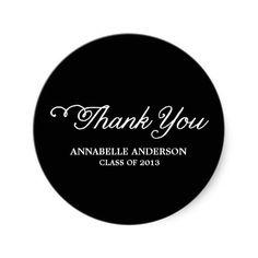 Class of 2013 Thank You Stickers #graduation #classof2013 #thankyou