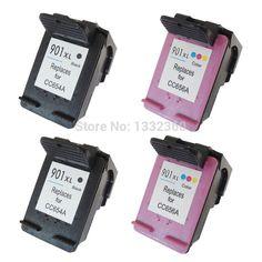 4PK For HP 901 XL Ink Cartridge For HP901 901xl for HP Officejet 4500 J4500 J4530 J4540 J4550 J4580 J4585 J4640 J4660 J4680