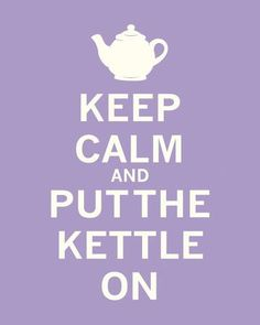 Keep Calm, Lavender Tea Art Print by The Vintage Collection at Art.com