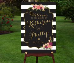 Hey, I found this really awesome Etsy listing at https://www.etsy.com/listing/195929312/large-custom-wedding-sign-printable