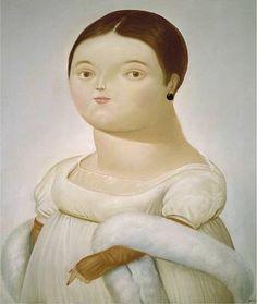 Mademoiselle Riviere by Fernando Botero