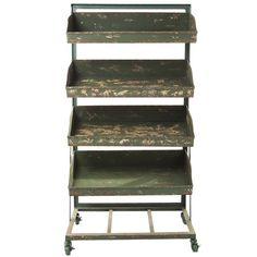 $620 Green Iron Shelves