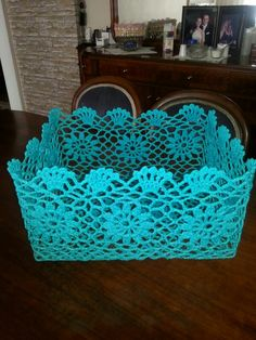 Crochet Lace Bag Christmas Gifts Ideas For 2019 Diy Crochet Basket, Crochet Gifts, Easy Crochet, Crochet Lace, Crochet Hood, Crochet Storage, Lace Bag, Crochet Hat For Women, Crochet Decoration