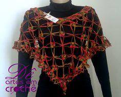 Pelerine em Crochê by Dê Artes em Crochê http://www.elo7.com.br/pelerine-em-croche/dp/767D09