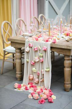 Styled Social New Jersey: Whimsical Llama Farm Wedding Inspiration ⋆ Ruffled Late Summer Weddings, Bridal Skirts, Tropical Fruits, Farm Wedding, Wedding Tables, Wedding Reception, Watercolor Invitations, Wedding Trends, Wedding Ideas