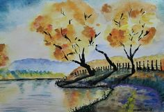 River - watercolor on paper ArtWorks- Pastell - Aquarell - Oil - Acric - Ink  #fineart #painting #watercolor #art #abstract #illustration #graphicdesign #grafikdesign #malerei #passion #feeling #bild #wanddeko #homedcoration #homedeko #besonderes #unique