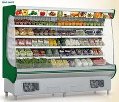 Expositor p/ Hortifruti Zeny Balanças Rak Display, Display Shelves, Vegetable Shop, Supermarket Design, Commercial Kitchen Equipment, Classic House Design, Spice Shop, Fruit Shop, Fresh Market