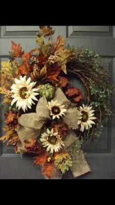 Items Similar To Fall Wreath, Autumn Wreath, Harvest Wreath, Door Wreath,  Fallu2026