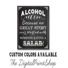 THIS ONE IS MY FAVORITE!!!!! Wedding bar SIGN Drink BAR Sign alcohol sign by DigitalPrintShop, $5.99
