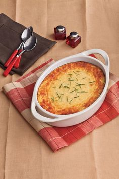 This tasty side dish takes a quicker approach to classic corn pudding. You'll love the cheesy Parmesan twist.     Recipe: Parmesan Corn Pudding