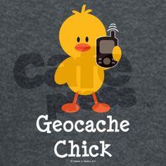Geocache Chick T-Shirt by chrissyhstudios