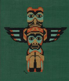 The thunderbird is a legendary creature in certain North American indigenous peoples' history and culture. It is considered a supernatural bird of power and strength. The thunderbird's name comes from the common belief that the beating of its enormous wings causes thunder and stirs the wind. I cross stitched this on vinyl-weave 14 count cross stitch fabric for a 3 ring binder cover.