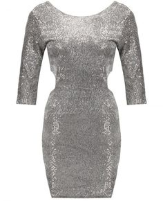 Silver Work Dress With Sleeves