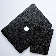 Black Glitter Macbook Case D E T A I L S • Apple cut out to allow the logo to shine • Made with a durable, hard plastic • Comes with a CLEAR bottom case that is perforated to allow your Macbook to vent. • Handmade item • Find more products at our official website Embrishop.com  **All glitter cases are treated with a clear coating to prevent the glitter from shedding. When you receive the case in the mail please note there may be minor fall out of glitter due to the case shifting in the…