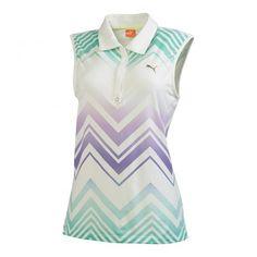 54ea851e7d261 PUMA GOLF Women s Refraction Sleeveless Polo Golf Shirt Let s Golf