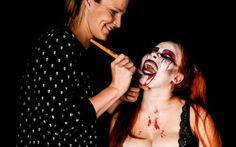 Halloween Airbrush Art, Halloween Face Makeup, Bodypainting, Photoshoot