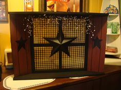 Prim Window with Star Accents