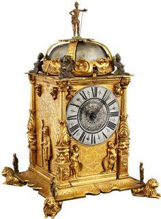 Historismus-Türmchenuhr Um 1880. Renaissance-Stil. Gehäuse aus fein ziselierter und feuervergoldet