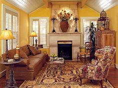 Warm tones really set the tone of this space.