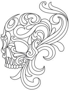One Color Lots Of Dimension This Unique Design Brings A Spooky Touch To Skull Coloring PagesColoring BooksLeather Tooling