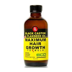 ECO Black Castor Oil & Flaxseed Oil Maximum Hair Growth 2 oz formula that repairs, restores, thickens and helps to promote hair growth. Vitamins For Hair Growth, Healthy Hair Growth, Hair Growth Tips, Natural Hair Growth, Black Castor Oil, Hair Growth Shampoo, Hair Growth Treatment, Spot Treatment, Hair Treatments