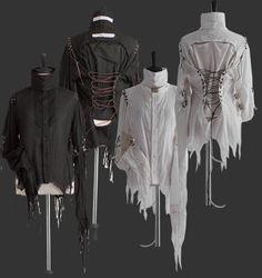 アリスアウアア  編み上げられた様子と朽ち果てる感覚のブラウス