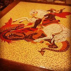 São Jorge (2014) - Mosaicos Portella | Arte & Decoração. #saojorge #mosaicos #mosaicosportella #fe #protecao