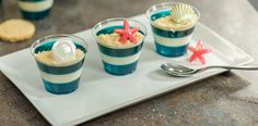 How-to Make Gelatin & Cookie Beach Cups