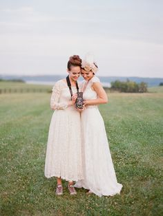 Two brides are better than one. Wedding Blog, Dream Wedding, Wedding Photos, Wedding Ideas, Wedding Things, Wedding Styles, Wedding Decor, Bridal Gowns, Wedding Gowns