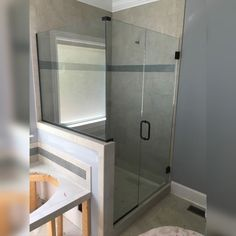 Exquisite Coral Industries frameless shower being installed by Chattanooga Frameless Showers.