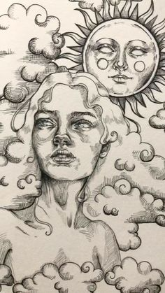 Art Drawings Sketches Simple, Pencil Art Drawings, Cute Drawings, Crazy Drawings, Random Drawings, Arte Sketchbook, Hippie Art, Psychedelic Art, Aesthetic Art