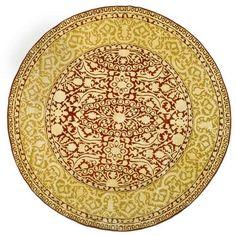 Safavieh Handmade Silk Road Maroon/ Ivory New Zealand Wool Rug (3'6 Round) (SKR213G-4R), Red (Cotton, Border)