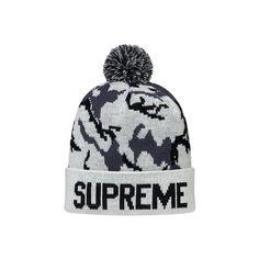 47f02eaf8c0a4  WTB  Supreme Camo Beanie White Black ❤ liked on Polyvore Camo Hats