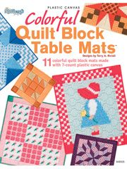 Plastic Canvas Book Downloads - Colorful Quilt Block Table Mats