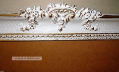 Bilderrahmen Weiß/gold Barock Gemälderahmen Rokoko 96x57 Spiegelrahmen Antik 0 Antike Bild