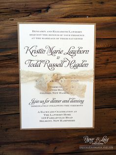 New Rustic Wedding Invitation Trends  Only if the bow is made out of burlap  And even still, the fonts may be a bit too formal (Carrie's opinion)